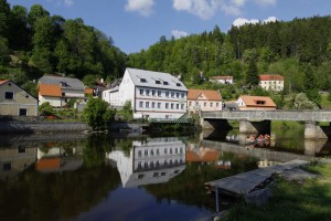 Romantische Moldau in Rosenberg