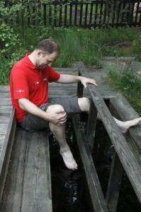 Wassertreten im Kurpark
