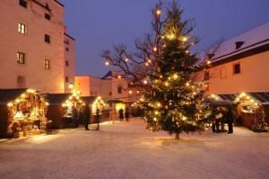 Adventmarkt auf der Festung Hohensalzburg. Foto: Salzburger Hohen