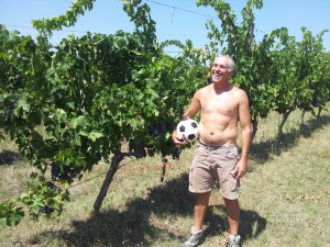 Luigi Valori in seinen Weinbergen
