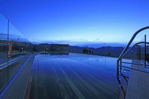 Gipfelbaden bis zum Sonnenuntergang