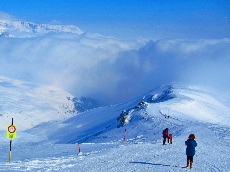 4) Winterwandern über 2000 m vom Crap Masegn aus