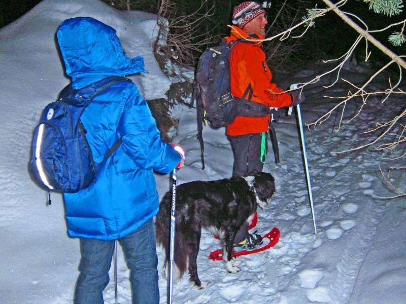 7) auf Schneeschuhen unterwegs mit Lukas