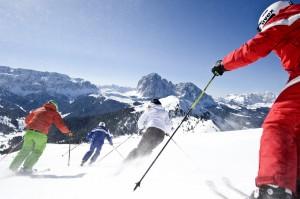 Vom Adler Dolomiti kurze Wege zum Skispaß.