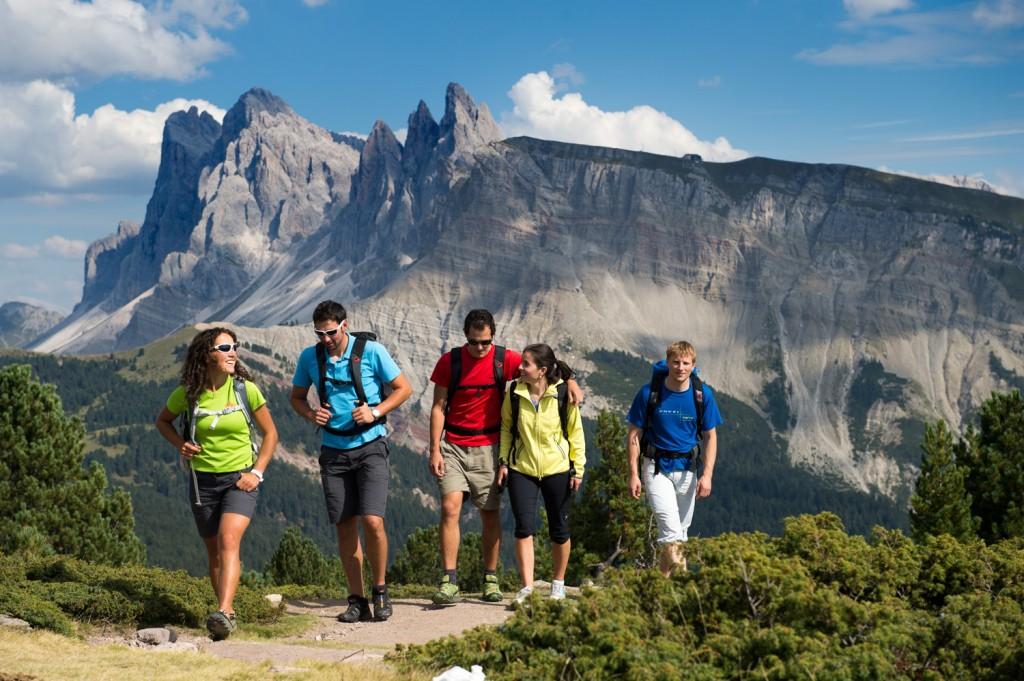 Wandern im UNESCO-Weltnaturerbe Dolomiten.