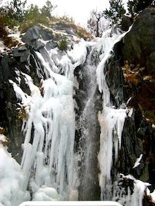 Benasque Eiswasserfall