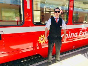 Zugführer Martin ist immer für einen Spaß zu haben Foto: Weirauch