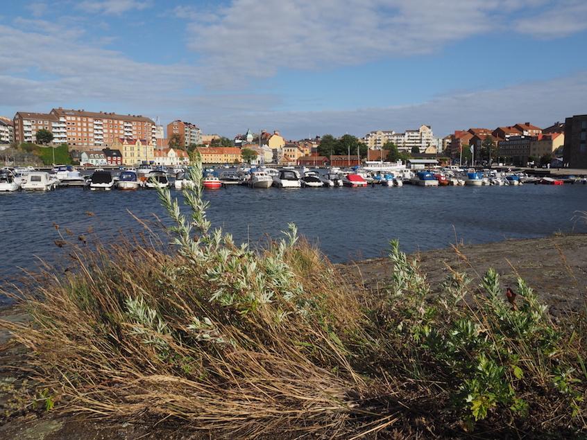 Blick von Inseln auf Karlskrona
