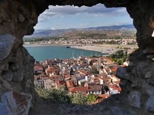 Blick von der Festung Akronáfplio auf Nauplia_©rwg