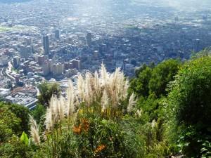 Bogotá vom Hausberg Monserrate gesehen.