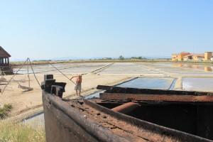 In einem Teil der Saline von Cervia wird das Meersalz noch nach traditioneller Art von Hand gewonnen, Foto: Heiner Sieger