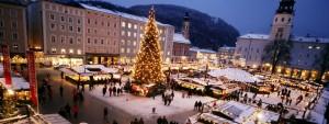 Der Salzburger Christkindlmarkt am Dom- und Residenzplatz.