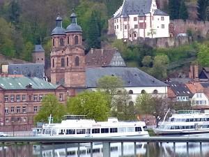 Churfranken Miltenberg mit Mildenburg + Pfarrkirche + Mainschiffe