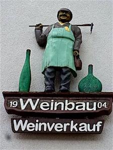 Churfranken Schild Weinverkauf