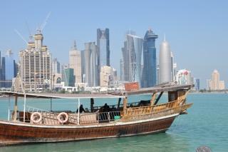 Dauh vor der Skyline Dohasv