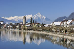 Interlaken: Sicht auf Altstadt von Unterseen
