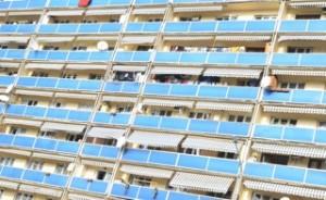 Die Fasade in den Vororten in Tiflis