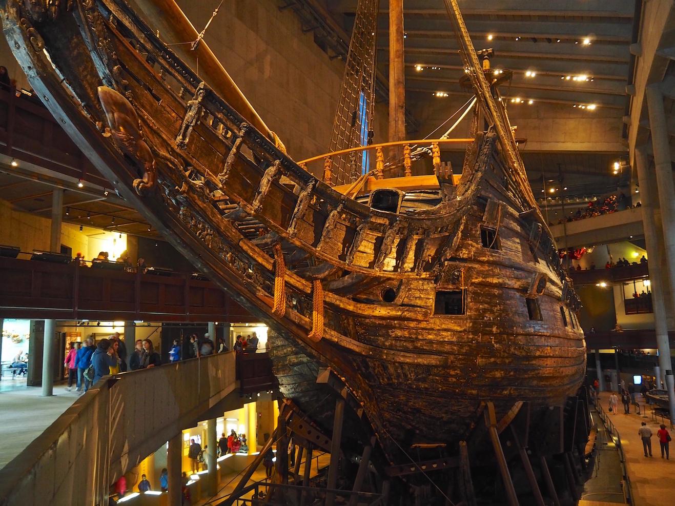 Die Vasa im Museum in Stockholm