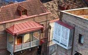 Die historischen Gebäude von Tiflis