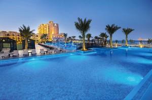 Das Luxushotel DoubleTree by Hilton Resort & Spa Marjan Island in Ras Al Khaimah.