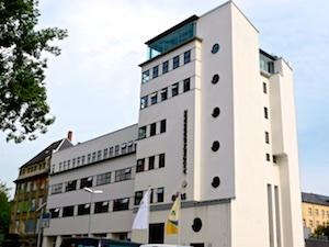 Ehemaliges Umspannwerk Getreidemarkt heute Jugendherberge Chemnitz 2016-05-27 Foto Elke Backert