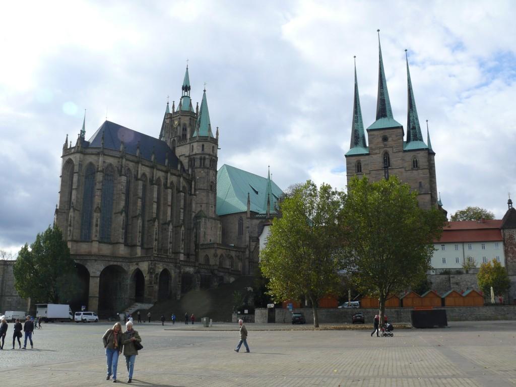 Erfurt mit Domplatz, Dom und St. Severi