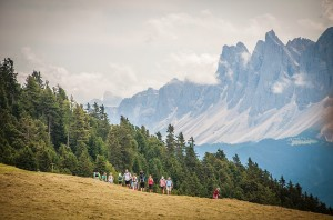 Dolomiten-Panorama bei der 1. Feldthurner Bergwoche, Foto: Heiner Sieger