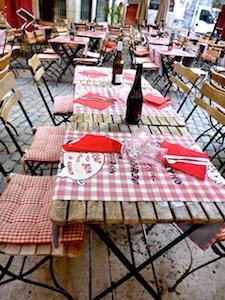 FR AROSA Lyon Restaurant open air Wein