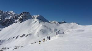 Abfahren im Zweiländer-Skigebiet Fellhorn/Kanzelwand.