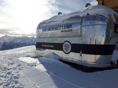 Foodtruck mit Aussicht an der Kristallhütte, Foto Siefert