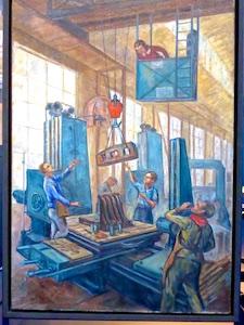 Gemaelde Arbeiter Industriemuseum Chemnitz  2016-05-27 Foto Elke Backert