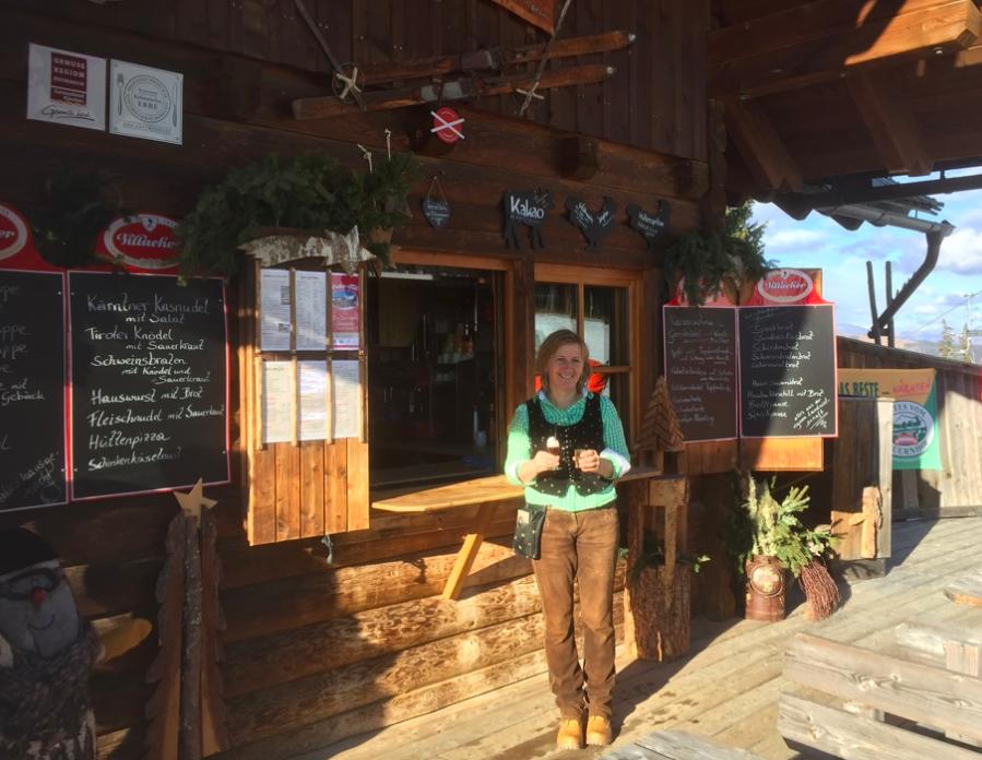 Hüttenwirtin Bettina von der Huaba-Hüttte auf der Gerlitzen Alpe, Foto: Redaktion München/Hiener Sieger