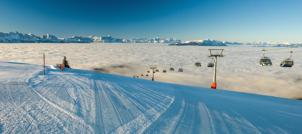 Skifahren über den Wolken auf der Gerlitzen Alpe, Foto: Region Villach Tourismus GmbH
