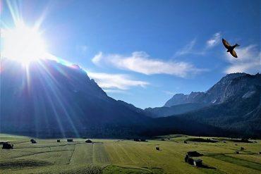 Auszeit auf der Sonnenseite der Zugspitze