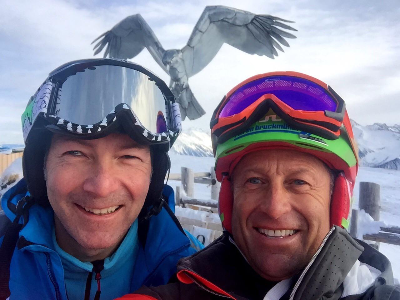 Mit Hans Enn unter den Schwingen des Tiroler Adlers auf der Schneekarhütte