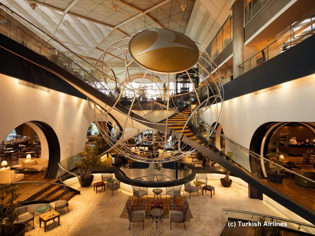 Ein unrealistisches Bild - eine leere Lounge Istanbul