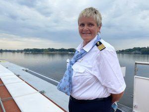 Hoteldirektorin Cathrin Fuhrmann auf der MS Sans souci Foto: Weirauch