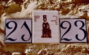 Maestrazgo Keramik-Hausnummer Patrona de La Iglesuela del Cid (1)
