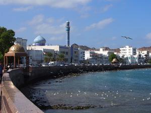 Hauptstadt Maskat: Flaniermeile am Hafen
