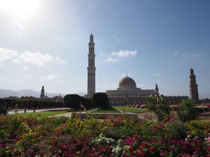 Sultan-Qaboos-Moschee aus rotem Buntsandstein