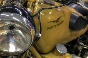 Die Moto Guzzi von Michil Costa: Früher Umwelt-Geißel - heute Museums-Objekt, Foto: La Perla