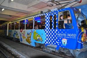 Mit der Murmeli-Bahn auf den Rocher de Naye zum Weihnachtsmann