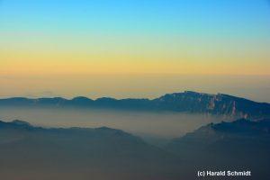 Hadschar-Gebirge, Oman im Morgendunst
