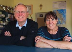 Freundliche Gastgeber. Im Bilde Marie und Michel Kean von Camping l'Ostréa