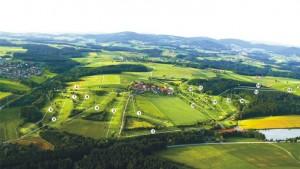 Das Platzlayout des Donau Golf Club Passau Rassbach