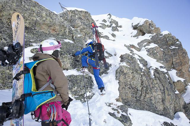 Klettergurt Mit Rucksack : Via ferrata on ice st. anton arlberg rendl klettersteig