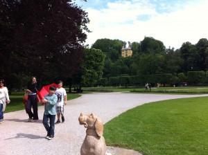 Hellbrunn: ein Schloss ist auch zum Spielen da (Quelle: Weindl)