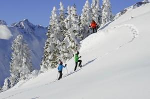 """Schneeschuh-Wandern beim """"Winterzauber am Berg"""". Foto: Josef Mallaun."""