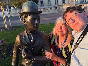 Selfie Roman Elke Genfer See Chaplin