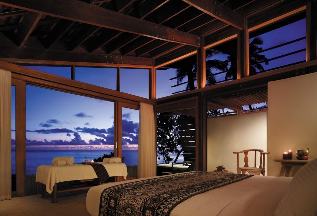 Zimmer mit Traum-Aussicht im Shangri-La Resort auf Fidschi.